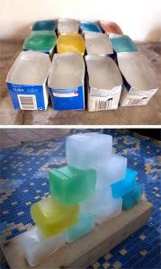 eisblock ice cubes cubos de hielo kinder niños kids jugar play spielen