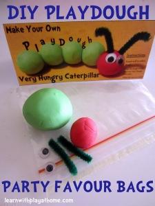 play dough caterpillar