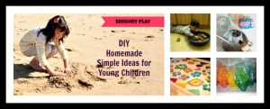 sensory play collage